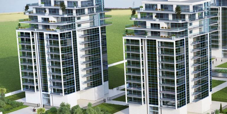 מבט של שני בניינים